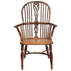 Mid-19th Century Yew Tree Windsor Chair