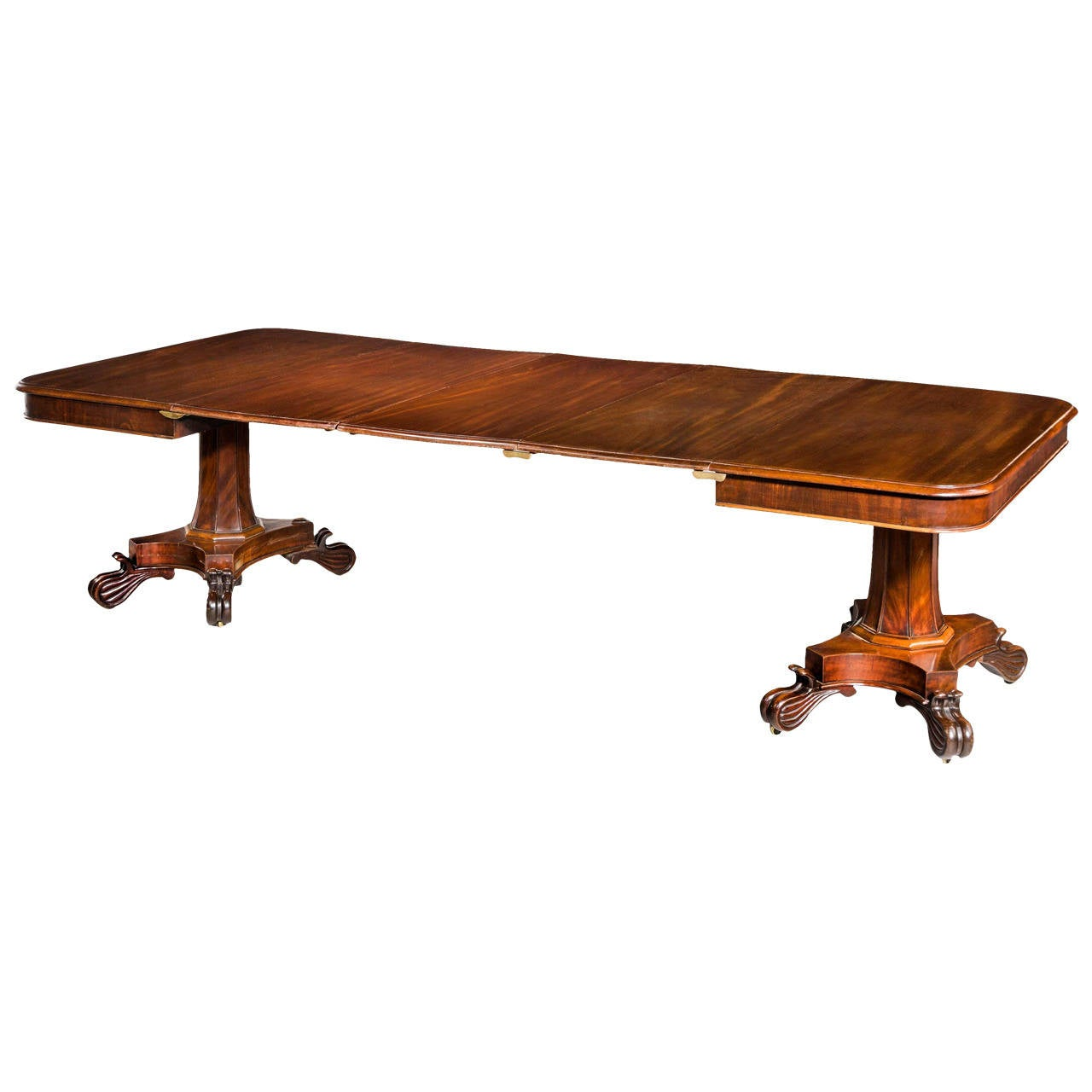 Regency period two pillar dining table at 1stdibs for Pillar dining table