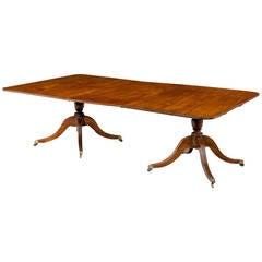 Regency Period Mahogany Two Pillar Dining Table