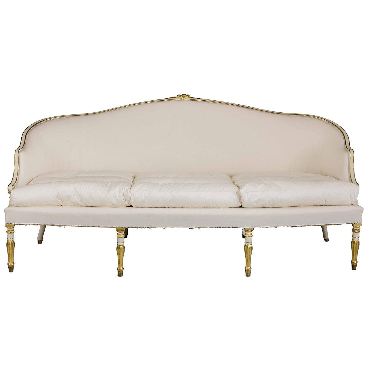 Sheraton Style Furniture This Hepplewhite Period Parcel-Gilt Sofa is no longer available.