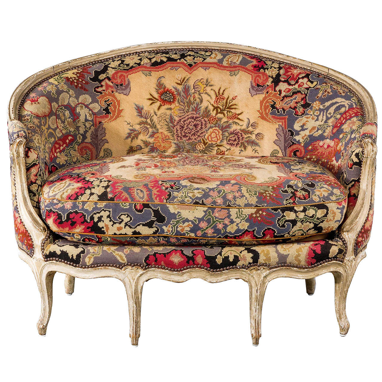 Louis xv design canap at 1stdibs for Canape louis 15