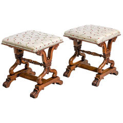 Pair of Regency Period Stools