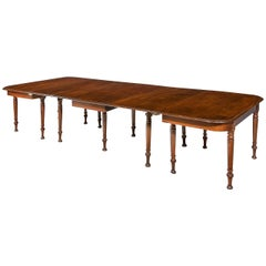 Late Regency Period Three-Part Dining Table