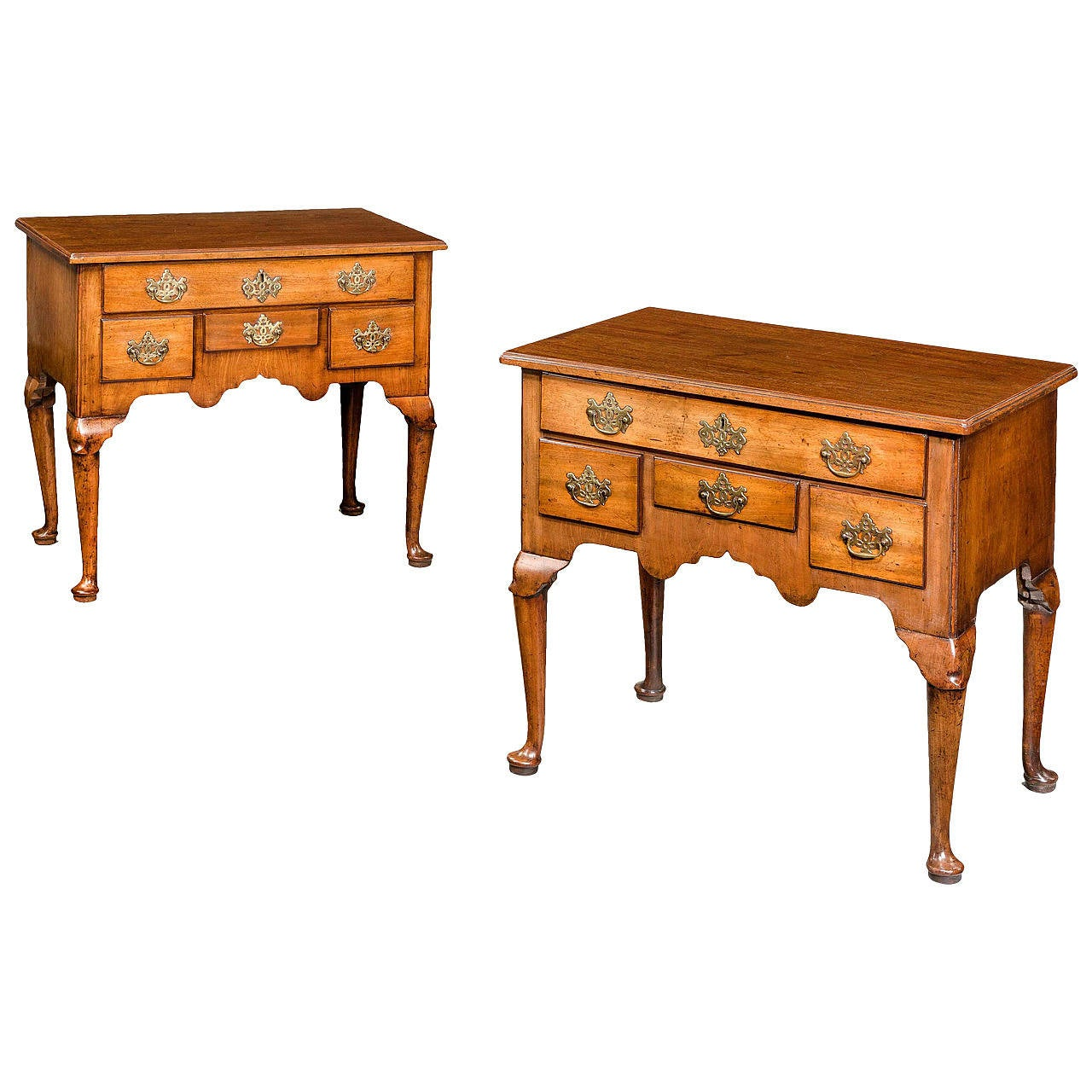 Pair of George II Period Lowboys