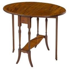 Late Victorian or Edwardian Period Mahogany Sutherland Table