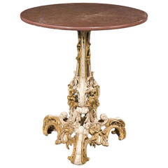 Mid-19th Century Parcel Gilt and Faux Table