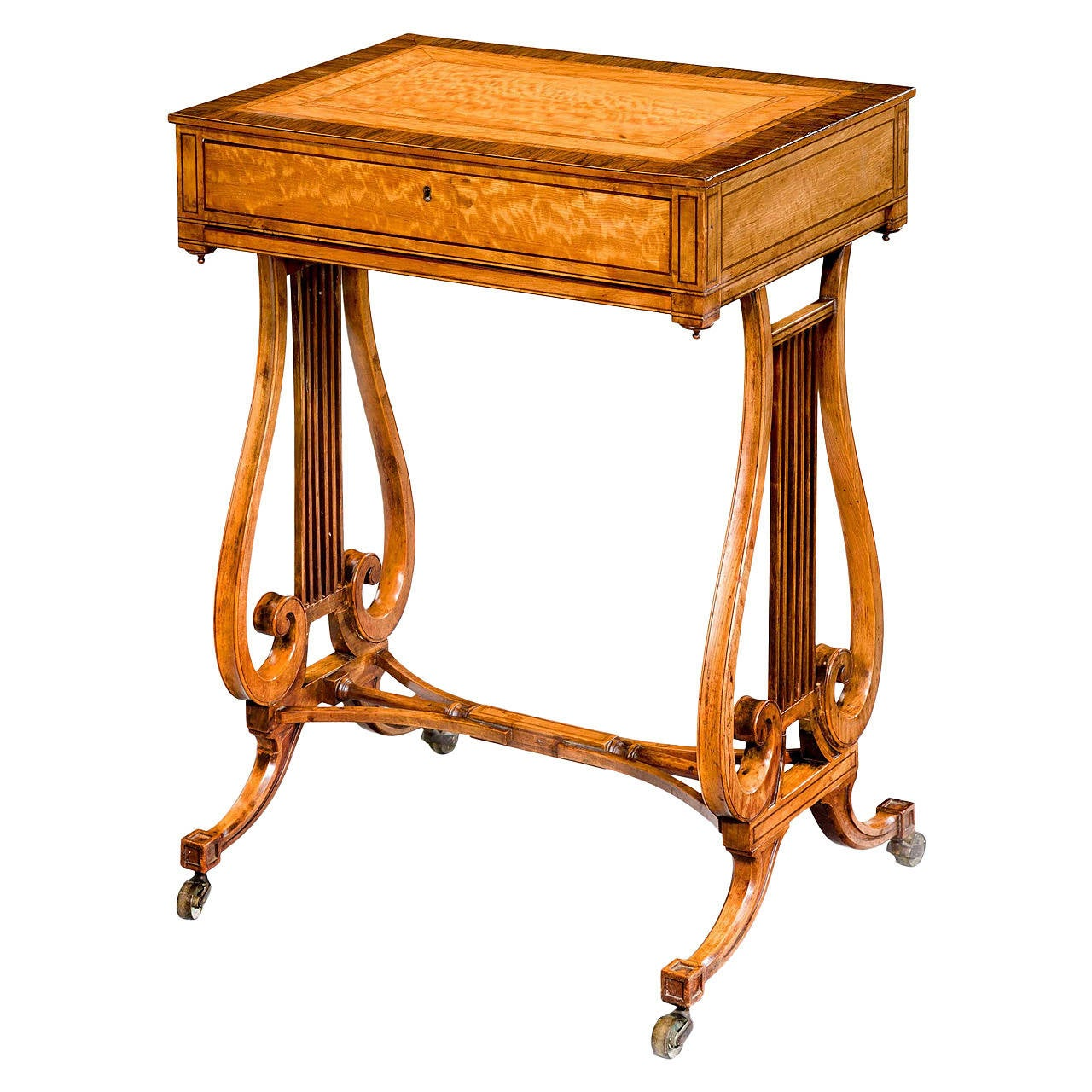 Late 18th Century Satinwood Work Table For Sale