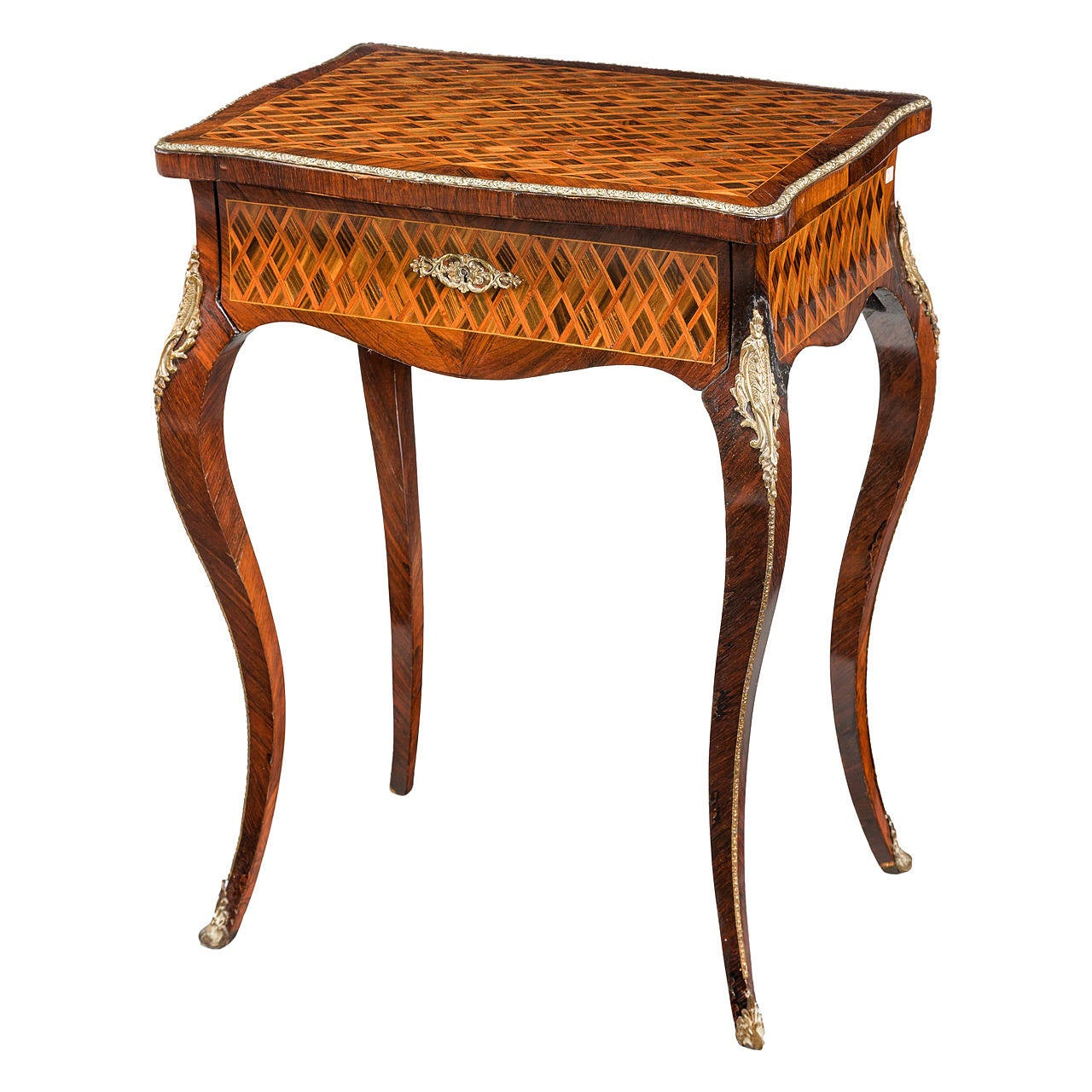 Kingwood parquetry ladies work table at 1stdibs for Furniture work table
