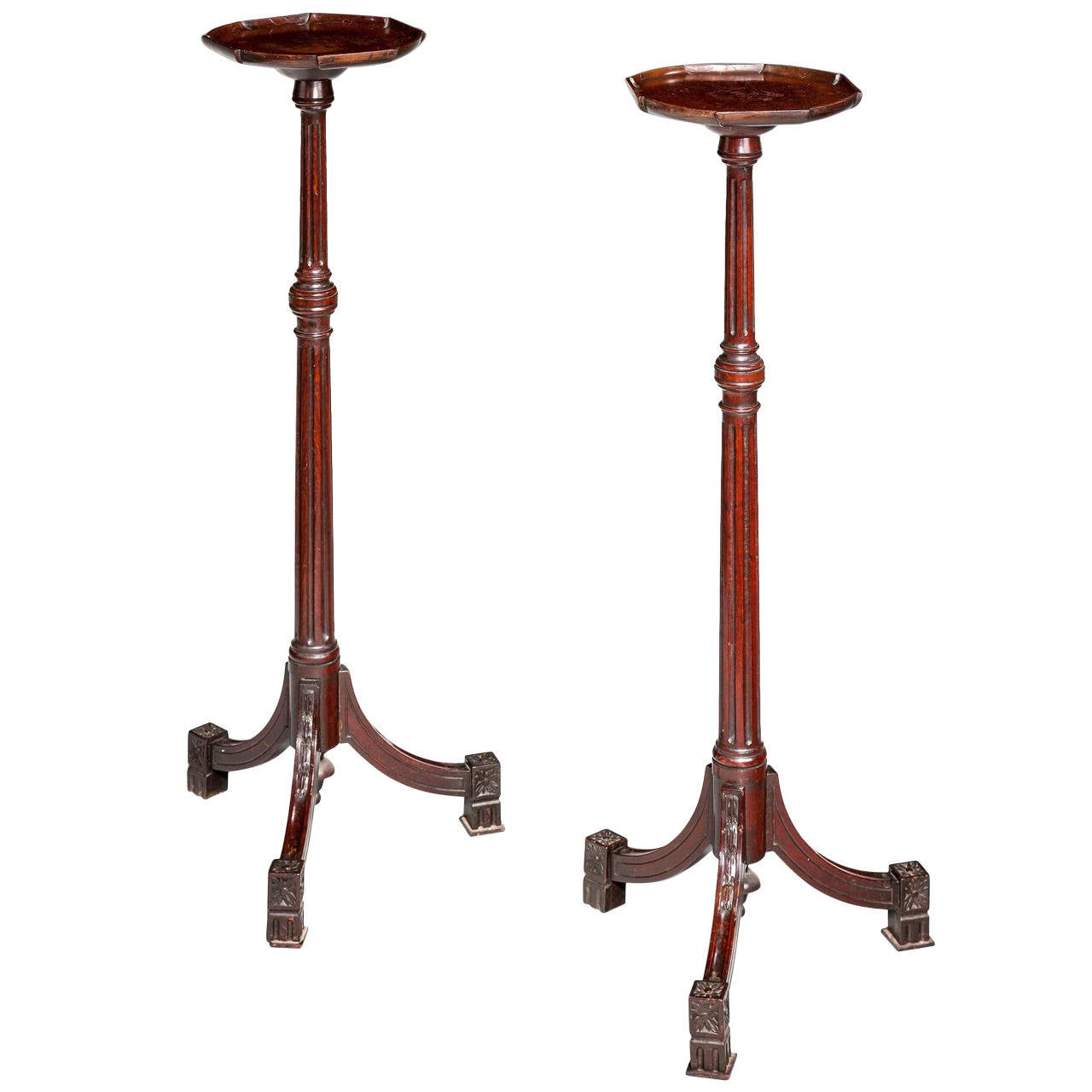 Pair of Regency Period Mahogany Torchère