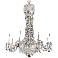 19th Century Cut Glass Chandelier
