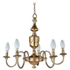 Mid-20th Century Five-Arm Chandelier