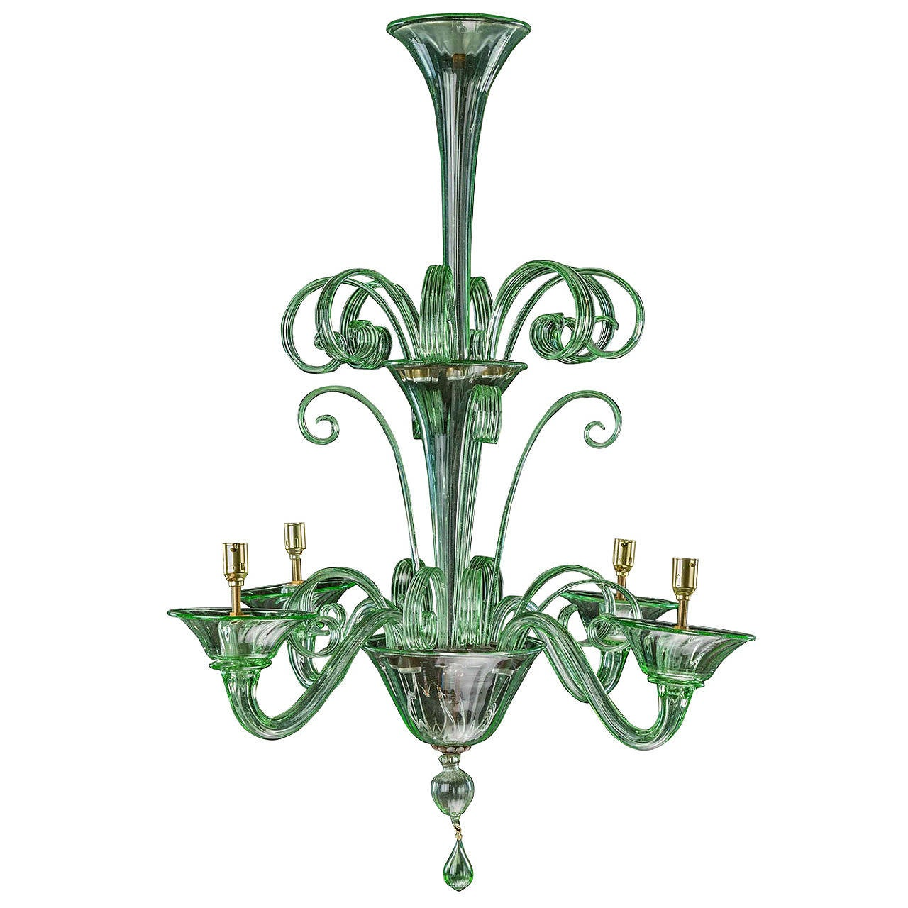 Late 19th Century Murano Four Arm Chandelier At 1stdibs