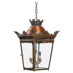 Early 20th Century Four Glass Lantern