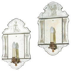Pair of Mid-20th Century Wall Lights