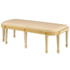 George III Period Parcel-Gilt Window Seat