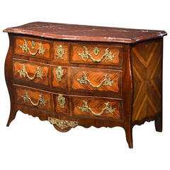 Good Louis XV Kingwood Parquetry Commode