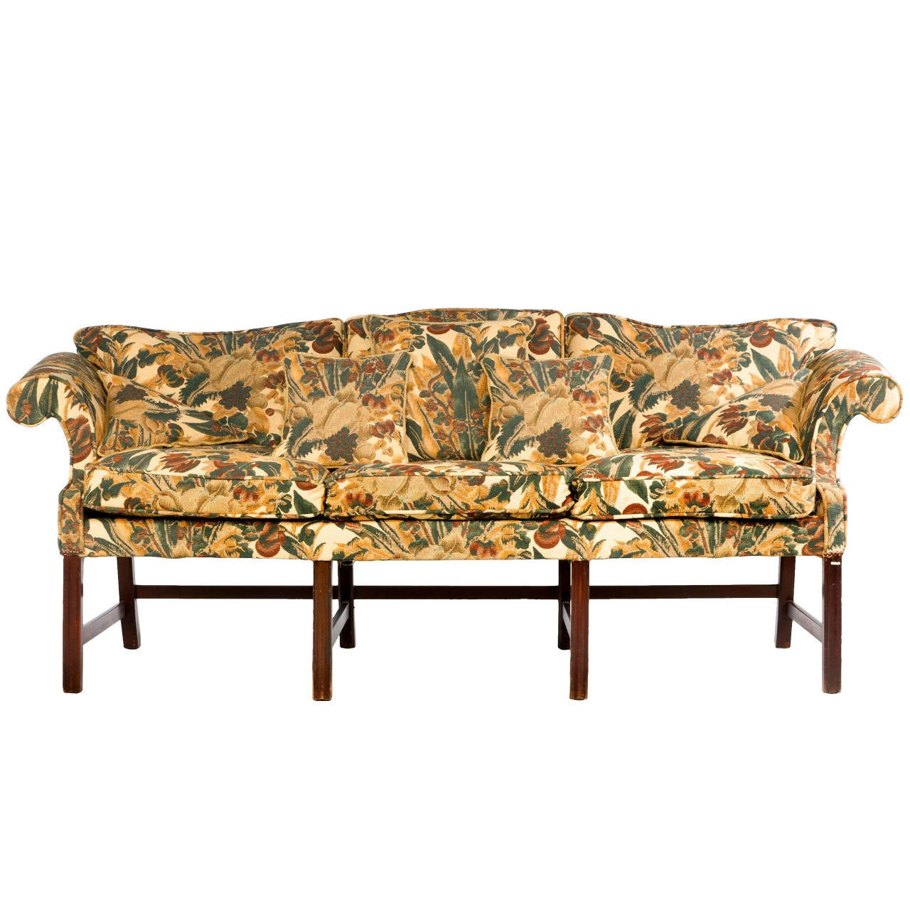 Chippendale Period Camel Back Sofa At 1stdibs