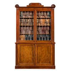 Regency Period Two-Door Bookcase