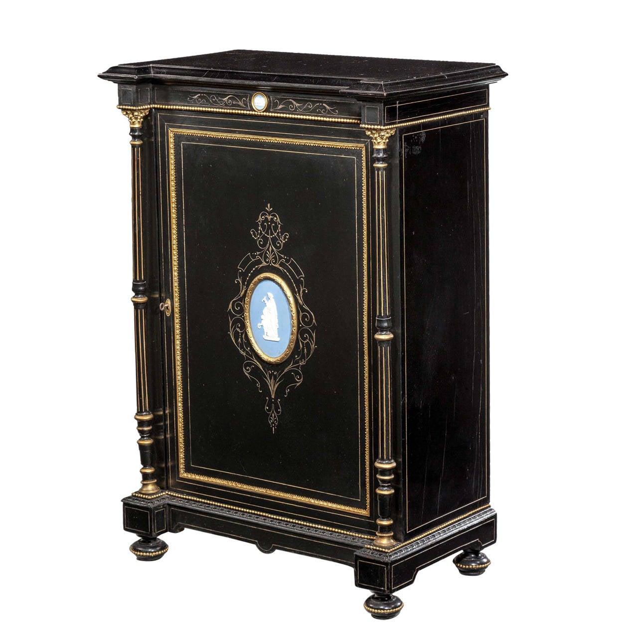 Late 19th Century Bone Inlaid Cupboard