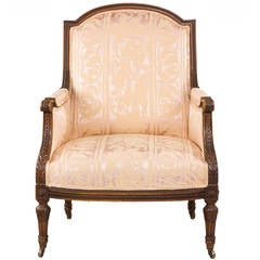Late 19th Century Beech Framed Bergere