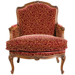 Late 19th Century Oak Bergere Chair
