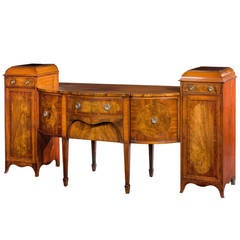 19th Century Serpentine and Breakfront Sideboard