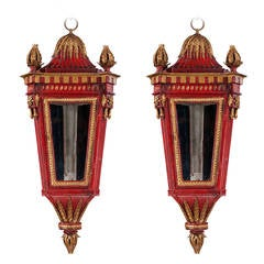 Pair of Three-Sided Lanterns