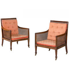 Pair of Regency Style Bergere Chairs