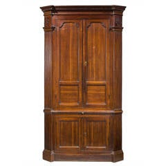George III Oak Double Corner Cupboard