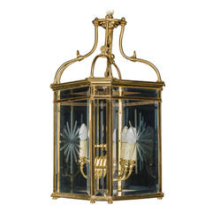 Regency Style Gilt Bronze Lantern