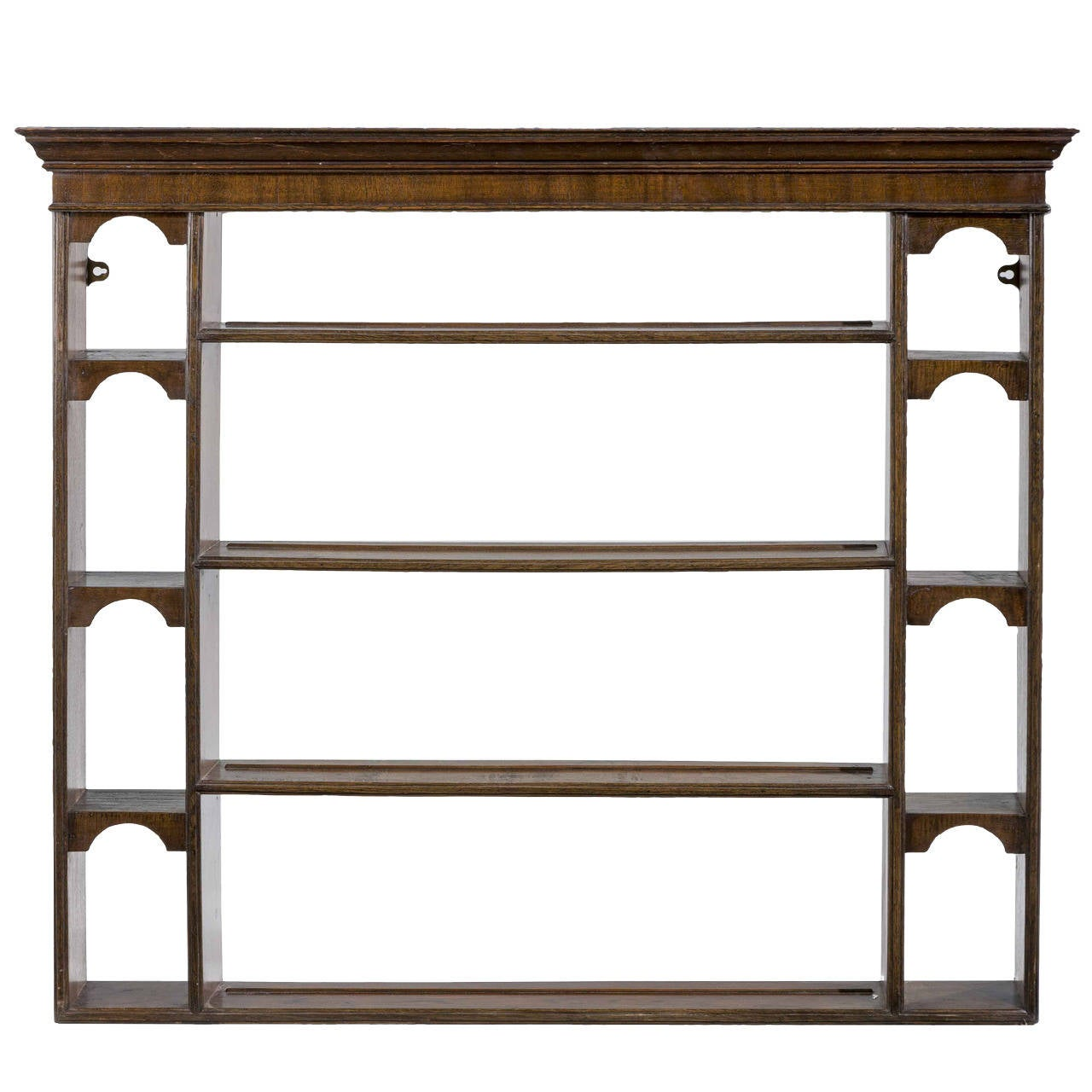Early 19th Century Mahogany and Oak Delft Rack