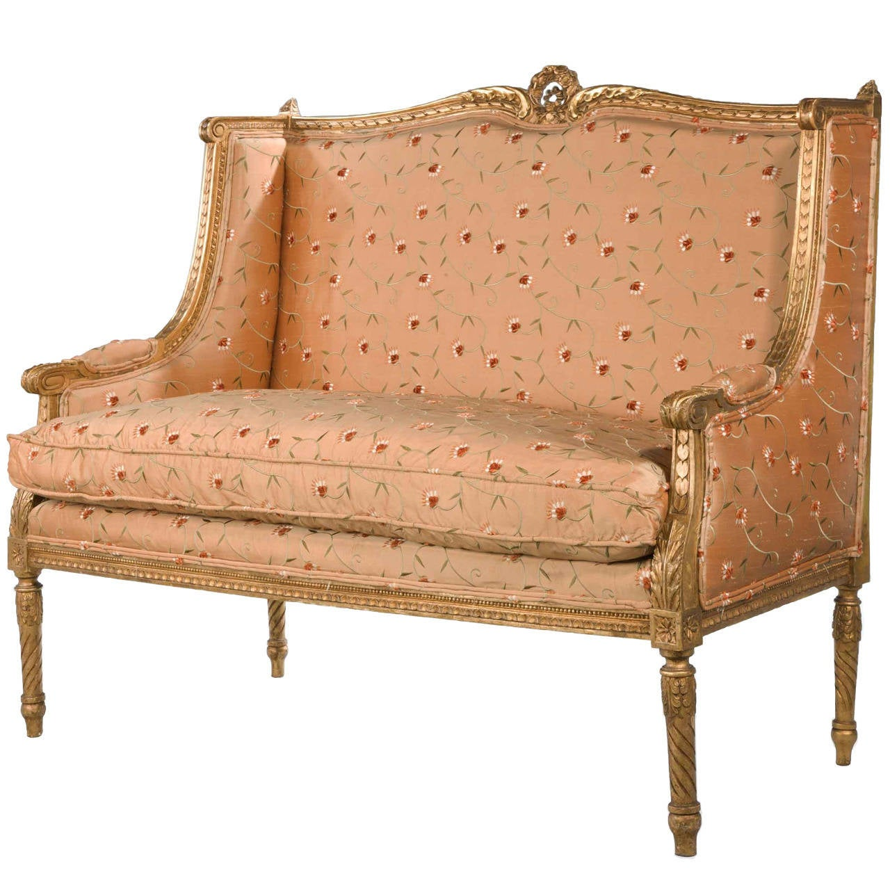 late 19th century french giltwood canape for sale at 1stdibs. Black Bedroom Furniture Sets. Home Design Ideas
