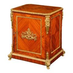 Late 19th Century Elaborate Gilt Bronze Dwarf Cabinet