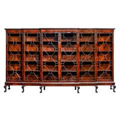 Chippendale Style Triple Breakfront Bookcase