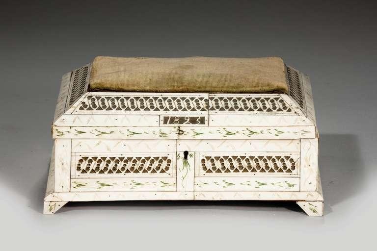English 19th Century Russian Bone Casket For Sale