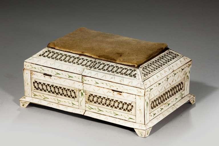 19th Century Russian Bone Casket For Sale 3