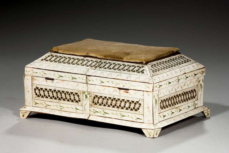 19th Century Russian Bone Casket For Sale 4