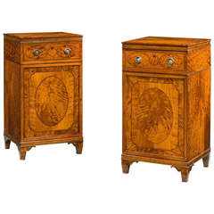 Pair of George III Period Satinwood Cupboards
