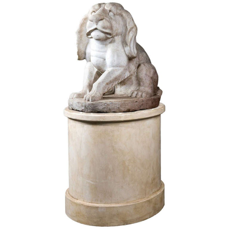 Mid-19th Century Figure of Marble Puppy