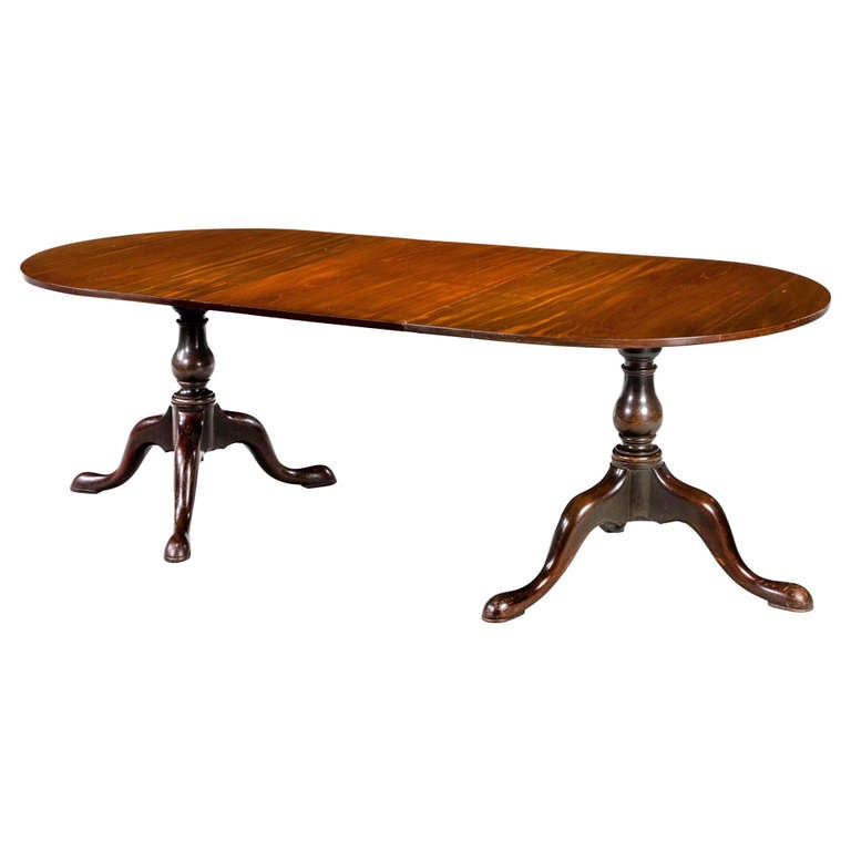 George iii period mahogany two pillar dining table at 1stdibs for Pillar dining table