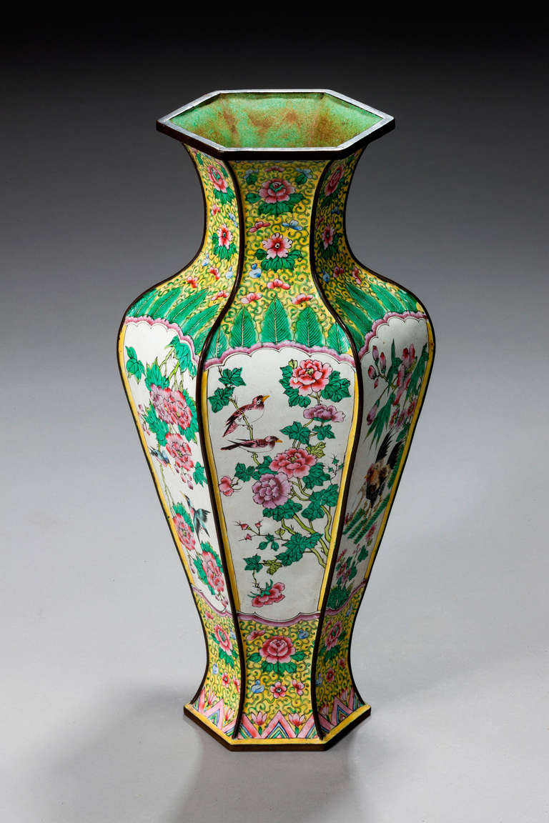 Chinese Hexagonal Shaped Vase At 1stdibs