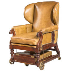 19th Century Invalids' Chair, Stamped J. Ward