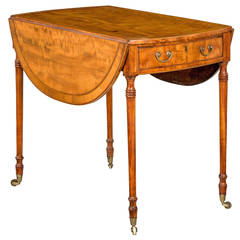 18th Century Satinwood Pembroke Table