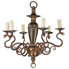 Late 19th Century Six-Arm Chandelier