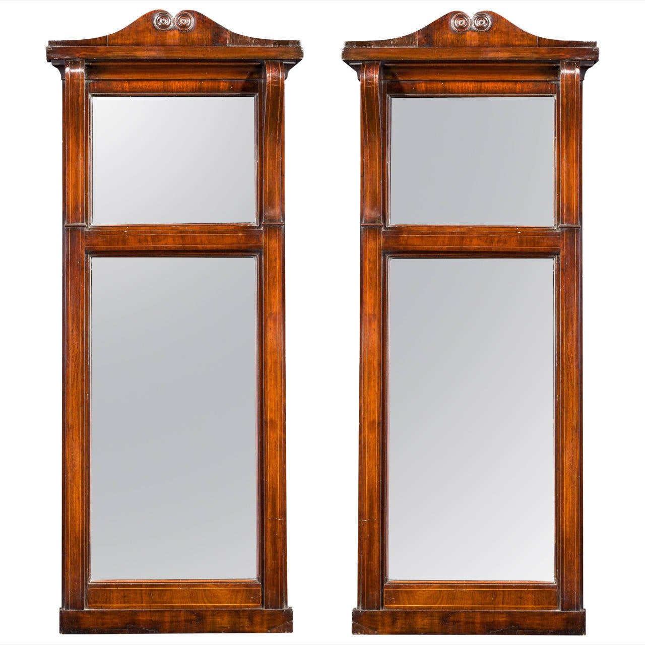 Pair of Regency Period Pier Mirrors For Sale