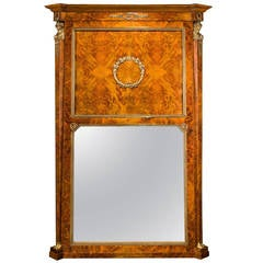 Austrian Late 19th Century Burr Birch Mirror