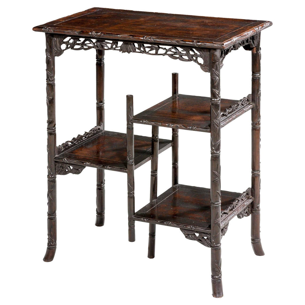 19th century exceptionally fine oriental etagere at 1stdibs. Black Bedroom Furniture Sets. Home Design Ideas