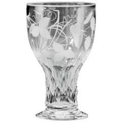 Large Goblet with Facet-Cut Stem