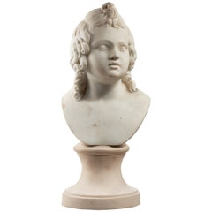 Mid-17th Century Marble Bust of a Girl