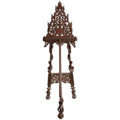 19th Century Indian Carved Easel